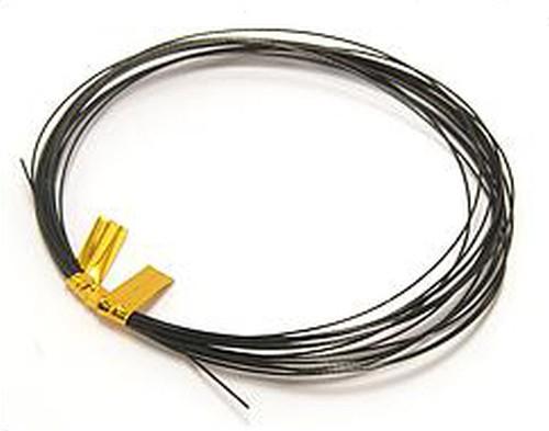 Schmuckdraht nylonummantelt 0,38mm schwarz, 2,5m