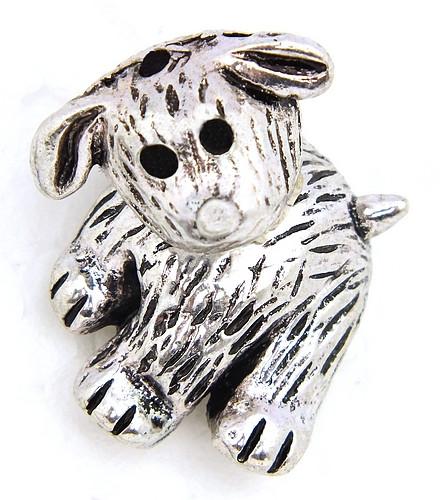 Funkelhund Schnuffi für Perlen von ca. 17 - 20mm Größe 2-teilig 1Stk