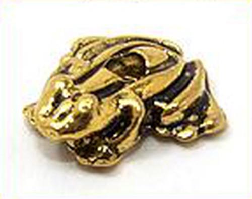 Metallperle Frosch ca. 12 x 12,5mm altgoldfarben 1Stk