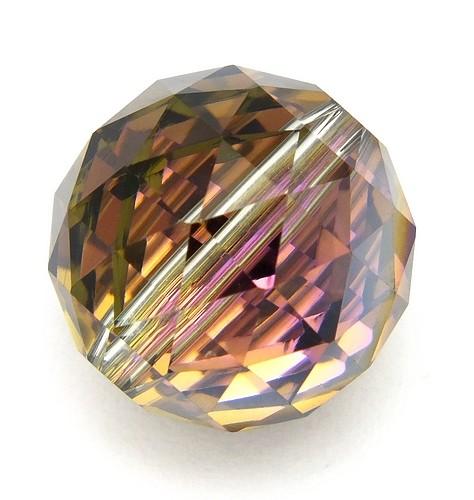 Glasschliff-Kugel L ca. 15mm dark rainbow