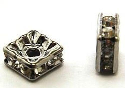 Strassquadrate ca. 6 x 6mm schwarz 10Stk
