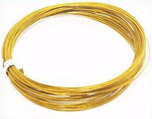 Schmuckdraht nylonummantelt 0,45mm goldfarben 10m
