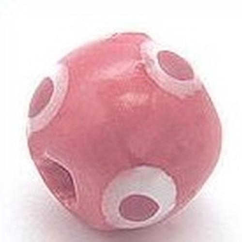 Keramikperle Kikubwa ca. 18mm hibiskus 1Stk