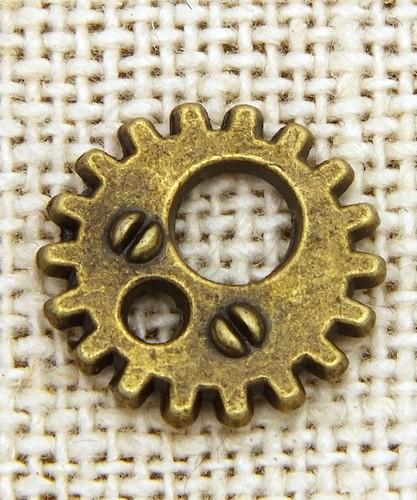 Steampunk Zahnrad Rusty ca.12 x 1mm antikfarben 1Stk