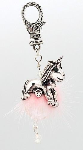 Einhorn Molly Anhänger rosa ca. 85mm