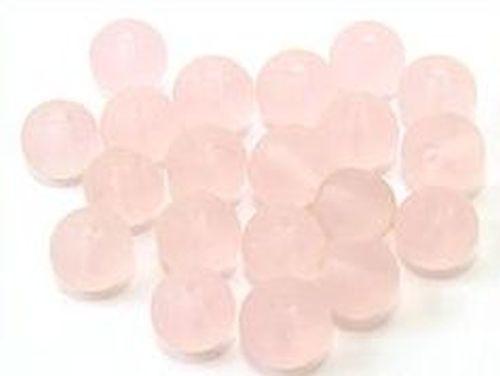 Glasperlen gefrostet ca. 8mm #04 rosa 20Stk