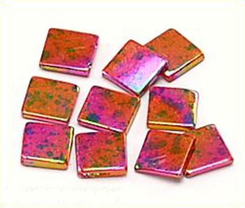 Perlmuttquadrate diagonal gebohrt ca. 14mm pink 10Stk