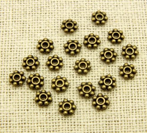 Zwischenteile/Metallspacer B18 ca. 5mm antikfarben 20Stk