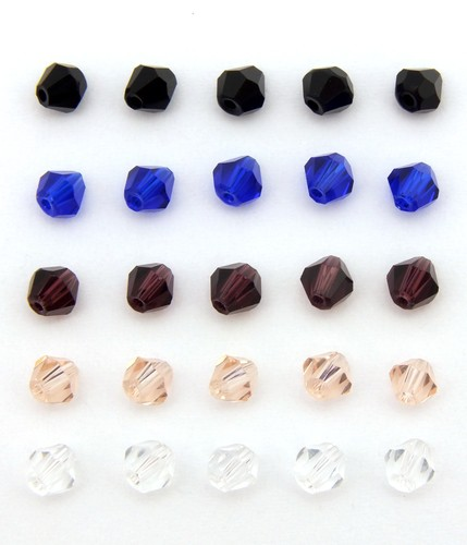 Bicone-Mix kalte Farben ca. 4mm