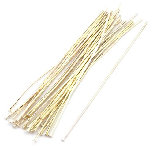 Headpins (Kettelstifte) ca. 7cm silberfarben 25Stk