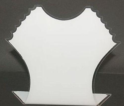 Schmuckbüste Acryl weiß ca. 19 x 21 cm