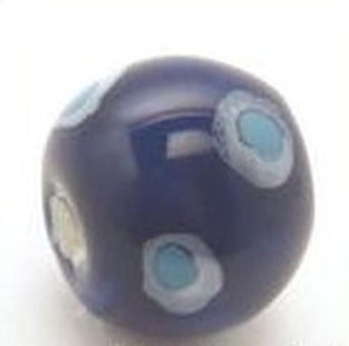 Keramikperle Kikubwa ca. 18mm midnight