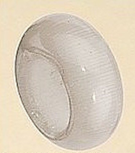 Großloch Cateye-Ring ca. 10 x 5mm hellgrau