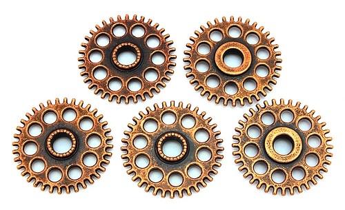 Steampunk Zahnrad Sprocket ca. 26 x 4mm kupferfarben