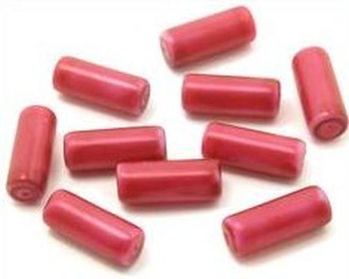 Glaswalzen ca. 6 x 15mm fuchsia