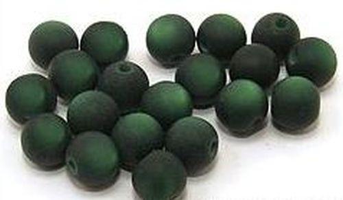 Polar-Perlen MATT ca. 8mm #20 dunkelgrün