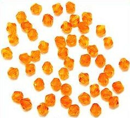 Bicone Glasschliffperlen ca. 4mm orange 50Stk