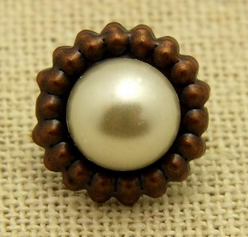 Brads kupfer-pearl ca. 16mm 1Stk