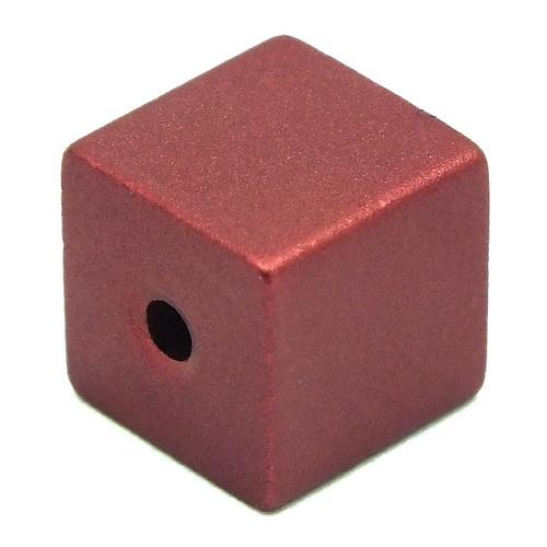 Loxalu® Beads Würfel ca. 8 x 8mm rot 1Stk
