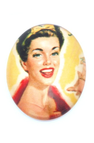 Burlesque Cabochon I oval ca. 25 x 18mm