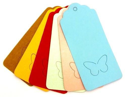 Paper-Tag-Set Schmetterling 6 Stück ca. 40 x 90 mm bunt 1Stk