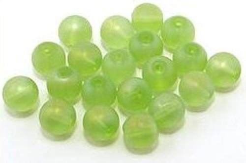 Glasperlen gefrostet ca. 8mm #23A/B grün