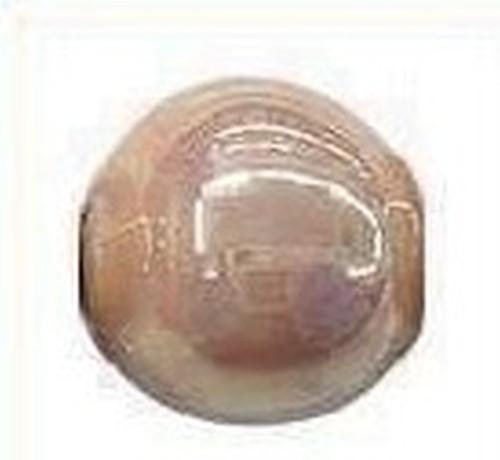 Keramikperle Karibu AB ca. 18mm teebraun
