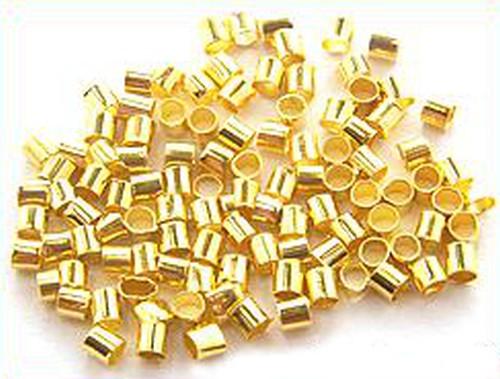 Quetschröhrchen 2mm goldfarben
