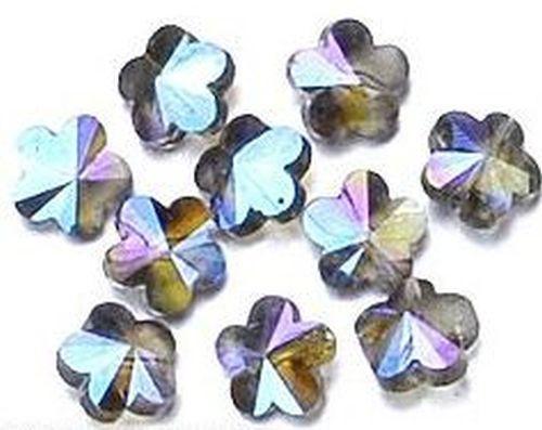 Blütenperlen ca. 14 x 14 x 8mm #30 grau AB