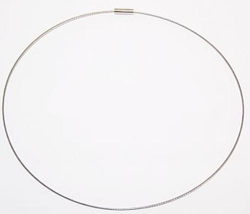 Wechselschmuck Wechseldraht / -reif ca. 45cm silberfarben