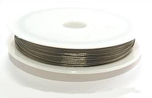 Schmuckdraht nylonummantelt 0,38mm silberfarben, 100m
