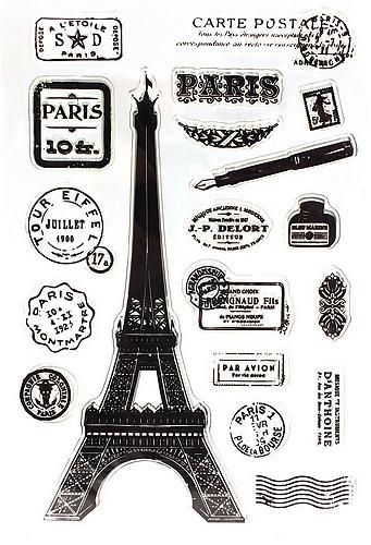 Stempel-Set PARIS ca. 10x15mm 1Stk