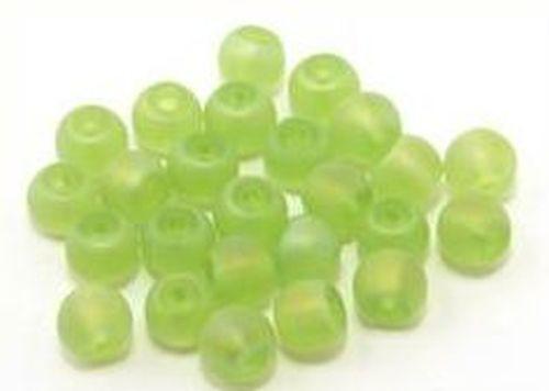 Glasperlen gefrostet, ca. 6mm, #23AB grün