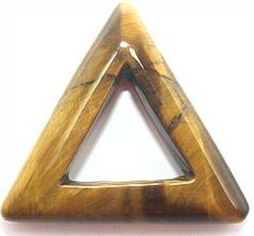 Anhänger Tigerauge Dreieck ca. 35mm