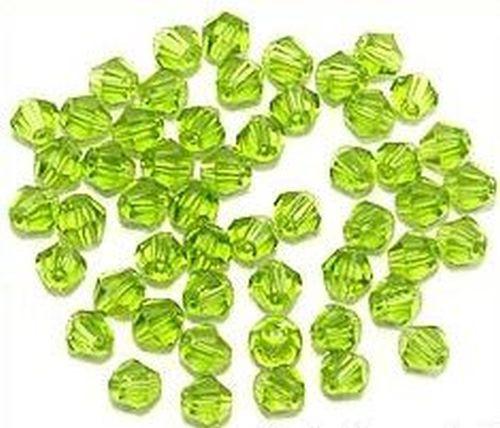 Bicone Glasschliffperlen ca. 4mm hellgrün