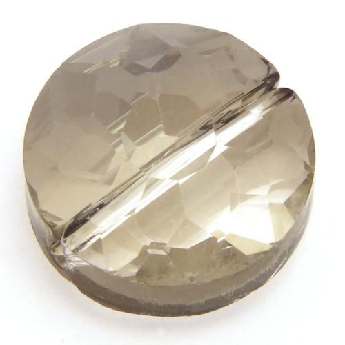 Glasschliff-Rondell A II ca. 14 x 9mm silber-grau 1Stk