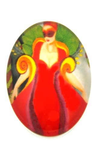 Burlesque Cabochon Q oval ca. 25 x 18mm