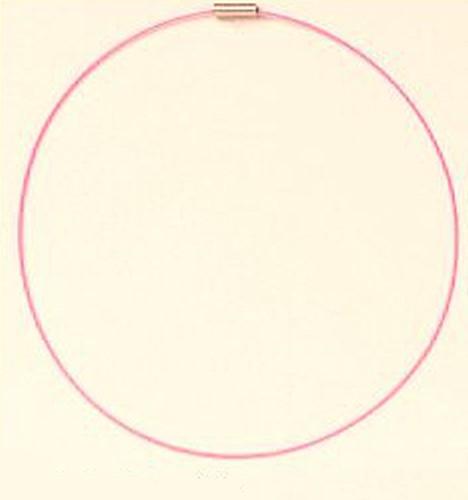 Wechselschmuck Wechseldraht / -reif ca. 42cm rosa
