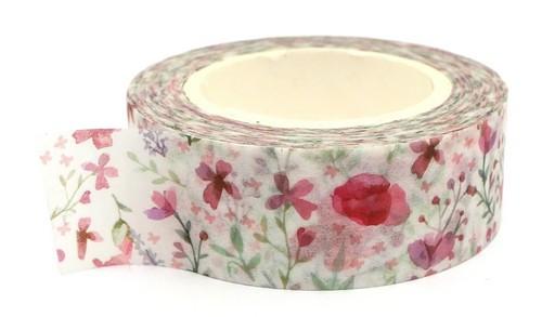 Rolle Washi Tape Fleur ca. 15mm breit 1Stk