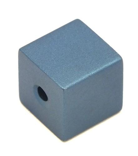 Loxalu® Beads Würfel ca. 8 x 8mm blau-petrol