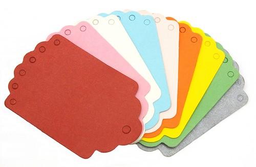 Paper-Tag-Set BUNT 9 Stück ca. 70 x 45 mm 1Stk