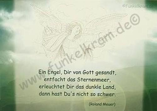 """Himmelsgruß-Karte """" Ein Engel...."""""""