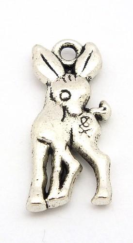 Metallanhänger Rehkitz ca. 19 x 8mm silberfarben 1Stk