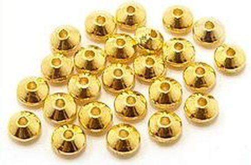 Metall-Linsen, goldfarben, ca. 6x4mm 25Stk