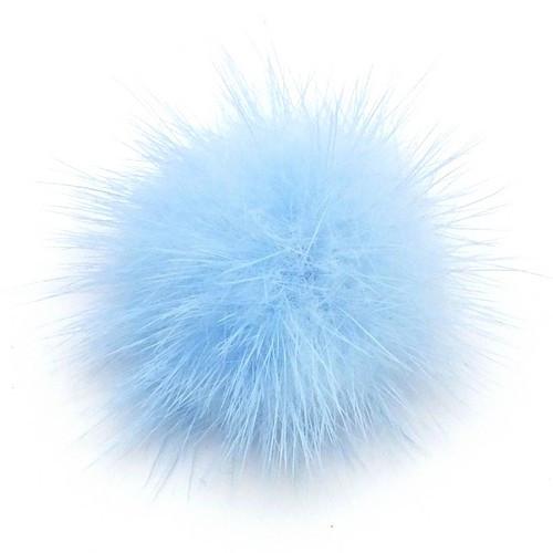 Fellpuschel ca. 20 - 30mm hell-blau