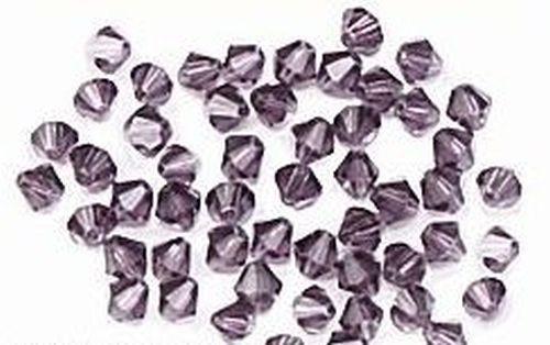 Bicone Glasschliffperlen ca. 4mm #14 dunkel lila 50Stk