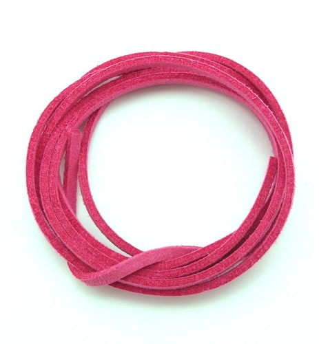 Veloursband ca. 3mm pink 1m