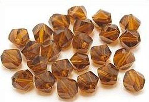 Glasschliff Klümpchen ca. 6mm braun 25Stk