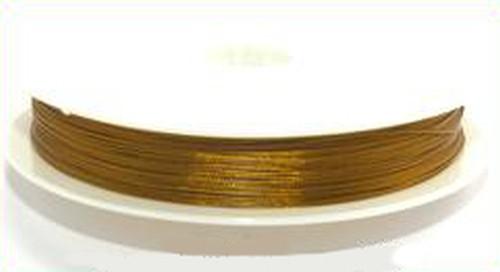 Schmuckdraht nylonummantelt 0,45mm goldfarben, 100m