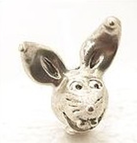 Angsthasen-Kopf Bunnyboy ca. 22 x 22 x 14mm altsilberfarben
